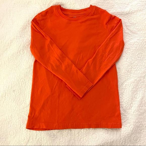 Primary orange long sleeve tshirt 6 - 7